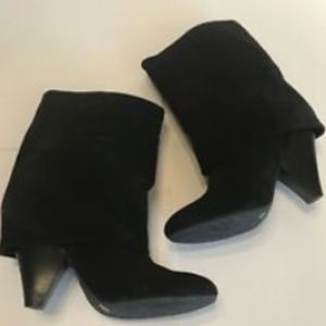 Gianni Bini Shoes - Gianni Bini Black Sz 7 Fold Down Suede 3' Heel Cal